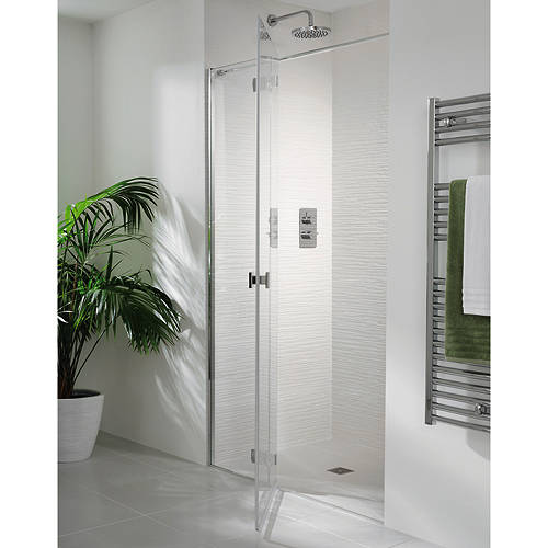Additional image for Martinique Frameless Hinged Shower Door & Panel (1600x2000).