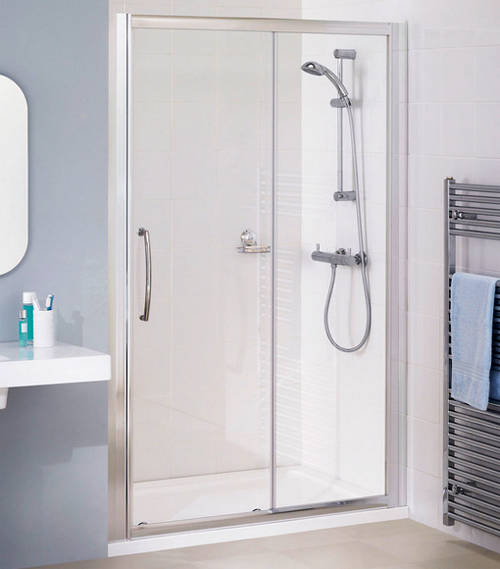 Additional image for 1300mm Semi-Frameless Slider Shower Door (Silver).