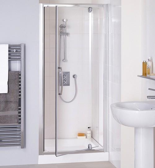 Additional image for 750mm Semi-Frameless Pivot Shower Door (Silver).