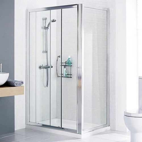 Additional image for 1200x750 Shower Enclosure, Slider Door & Tray (Right Handed).