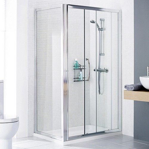 Additional image for 1700x750 Shower Enclosure, Slider Door & Tray (Left Handed).