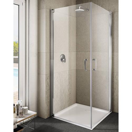 Additional image for Ritiro Semi-Frameless Square Shower Enclosure (800x800x2000).