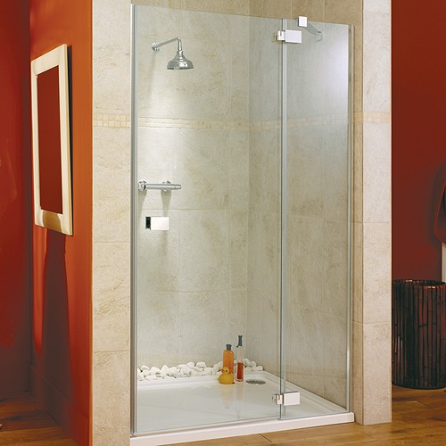 Hinged Shower Door Glass Panel Right Hand 1400x1950mm Lakes