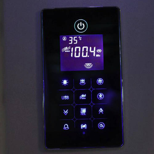 Additional image for Quadrant Steam Shower Enclosure 900x900mm (Black Glass).
