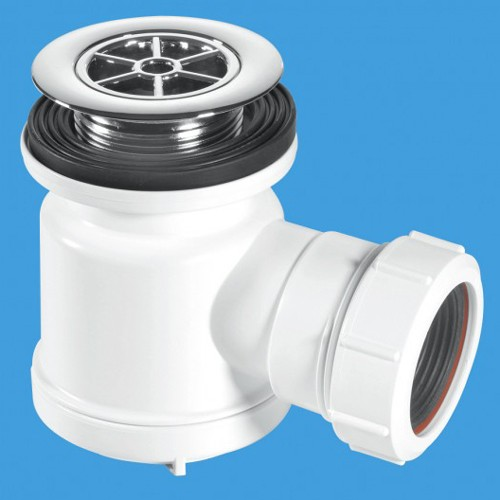 """Additional image for 1 1/2"""" x 19mm Water Seal Shower Trap, 70mm Flange."""