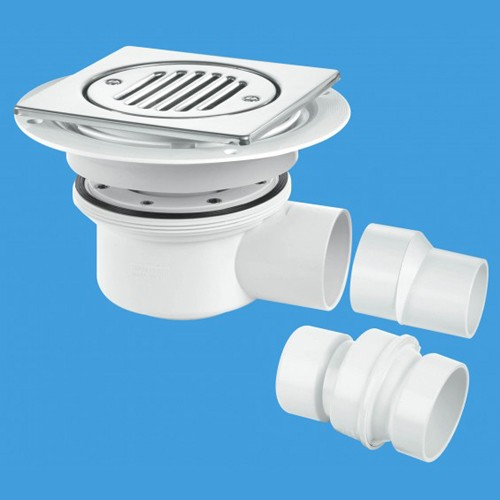 Additional image for 50mm Shower Trap Gully For Tiled Or Stone Flooring (2 Piece).