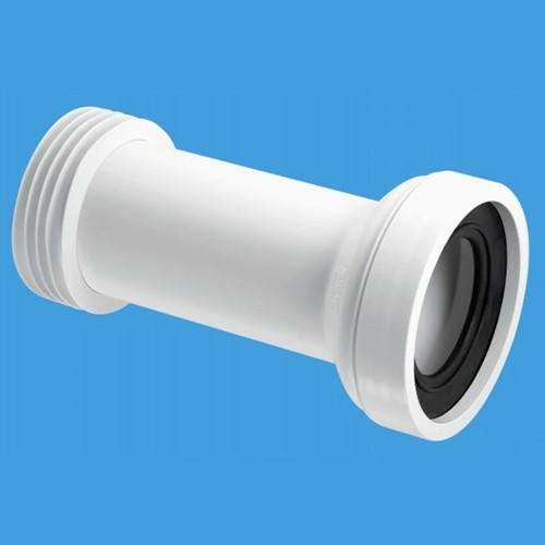 "Additional image for WC 4""/110mm Straight Toilet Pan Adjustable Connector."