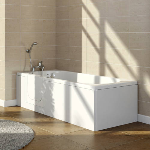 Additional image for Avrail Walk In Bath With Left Handed Door Entry (1500, Whirlpool).