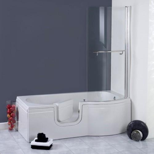 Additional image for Calypso Walk In Shower Bath With Left Hand Door (1675x850).