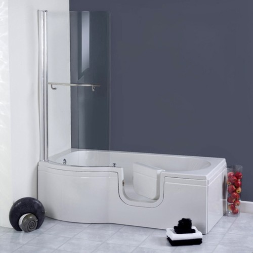 Additional image for Calypso Walk In Shower Bath With Right Hand Door (Whirlpool).