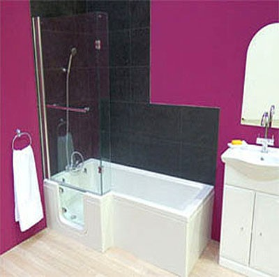 Additional image for Savana Walk In Shower Bath With Left Hand Door (1670x850).