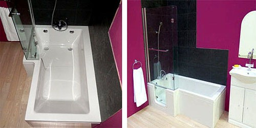 Additional image for Savana Walk In Shower Bath With Left Hand Door (Whirlpool).
