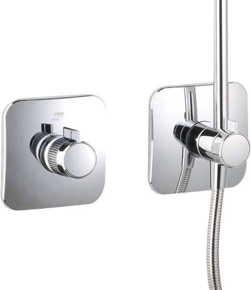 Additional image for Concealed Thermostatic Shower Valve With Rigid Riser Kit.