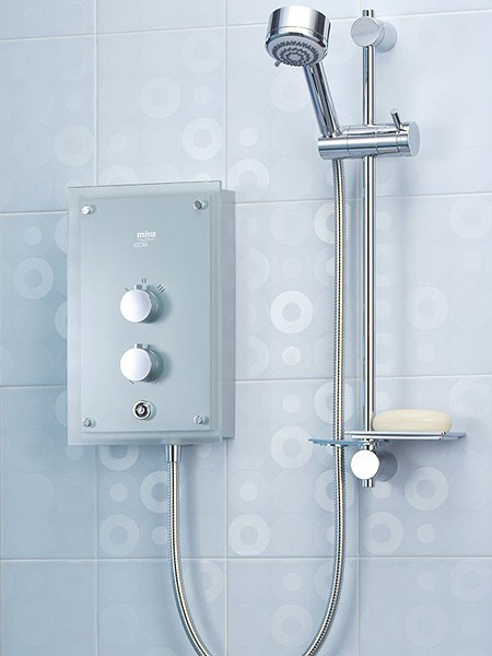 electric shower thermostatic with frosted glass. Black Bedroom Furniture Sets. Home Design Ideas