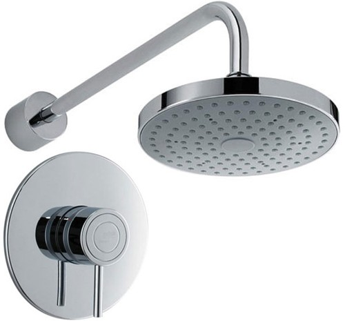 Additional image for Concealed Thermostatic Shower Valve With Round Shower Head.