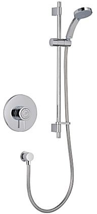 Additional image for Concealed Thermostatic Shower Valve With Slide Rail Kit (Chrome).