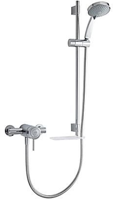 Additional image for Exposed Thermostatic Shower Valve With Slide Rail Kit (Chrome).