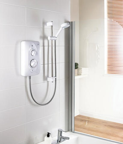 Additional image for Jump Electric Shower (White & Chrome, 10.5kW).
