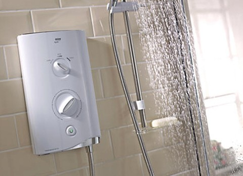 Additional image for Mira Sport Thermostatic 9.8kW in white & chrome.