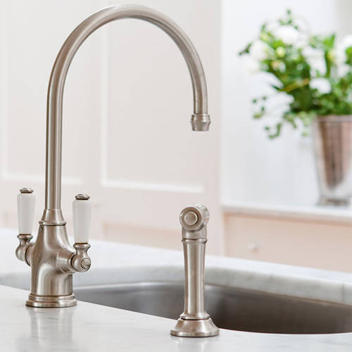 Additional image for Kitchen Tap With Rinser (Pewter).