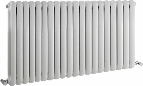 Additional image for Salvia Double Radiator. 7108 BTU (White). 1223x635mm.