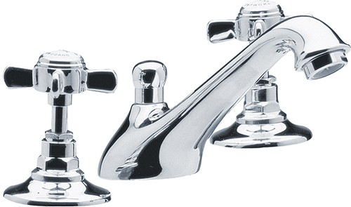 Additional image for 3 Tap Hole Basin Mixer Tap (Chrome).