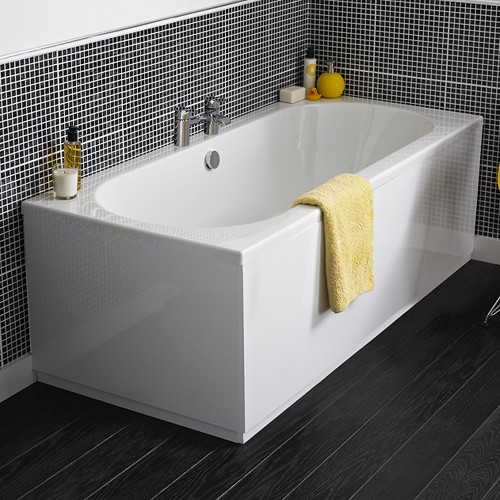 Additional image for Otley Double Ended Acrylic Bath. 1700x700mm.