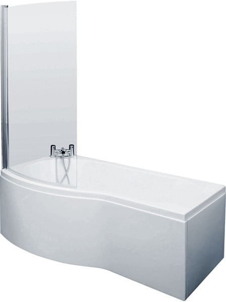 Additional image for Shower Bath With Screen & Panels (1500mm, Left Handed).