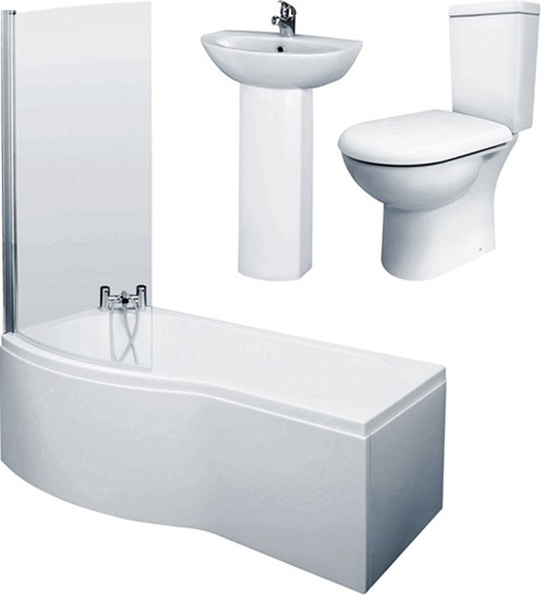 1500mm shower bath suite with toilet amp basin left handed cleargreen ecoround 1500mm x 900mm right handed shower bath