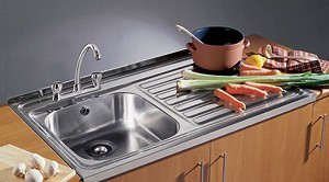 Additional image for Sit On Kitchen Sink & Waste. 1000x600mm (Square Edge, 2 Tap Hole).