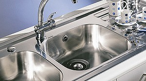 Additional image for Kitchen Sink With Two Drainers & Waste. 1310x510mm (2 Tap Holes).