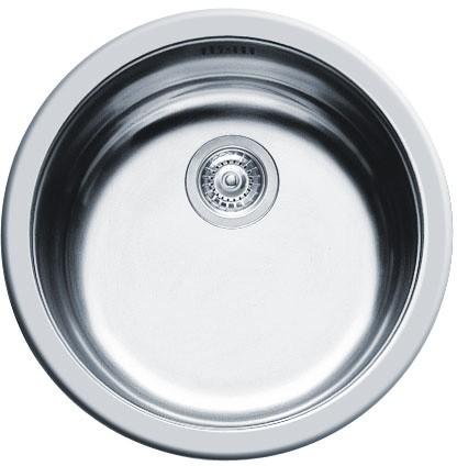 Additional image for Round Kitchen Sink & Waste. 450mm Diameter.