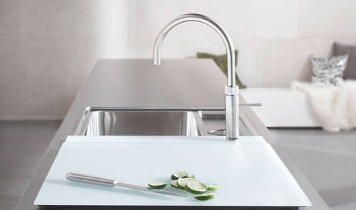 Additional image for Round Boiling Water Kitchen Tap. COMBI (Stainless Steel).
