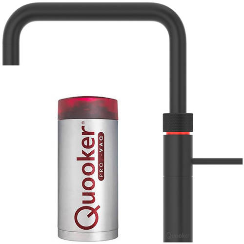 Additional image for Square Boiling Water Kitchen Tap. COMBI (Black).