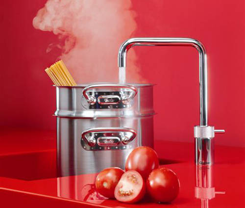 Additional image for Square Boiling Water Kitchen Tap. COMBI (Stainless Steel).