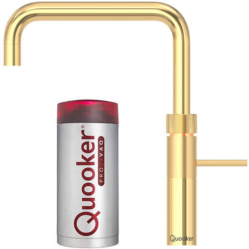 Additional image for Square Boiling Water Kitchen Tap. PRO7 (Gold).