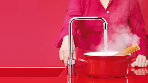 Additional image for Square Boiling Water Kitchen Tap. COMBI (Brushed Chrome).