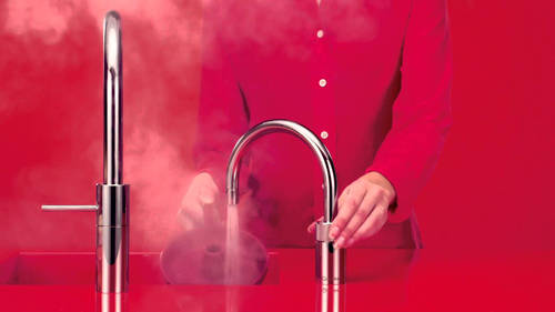 Additional image for Round Boiling Water Kitchen Tap. COMBI (Brushed Chrome).