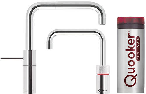 Additional image for Square Twintaps Instant Boiling Tap. COMBI (Polished Chrome).