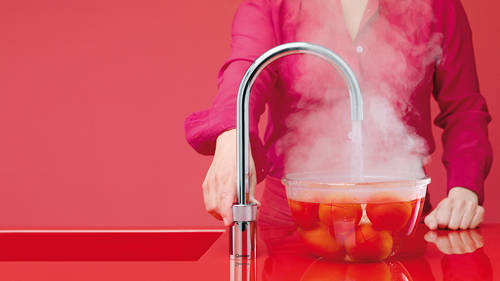 Additional image for Round Twintaps Instant Boiling Tap. COMBI (Brushed Chrome).