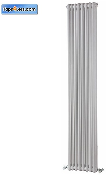Additional image for Colona Vertical 2 Column Radiator (White). 1800x200mm.