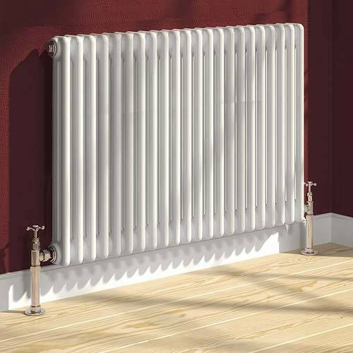 Additional image for Colona 2 Column Radiator (White). 600x785mm.