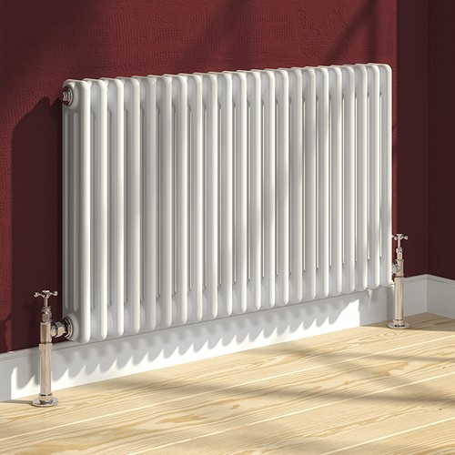 Additional image for Colona 3 Column Radiator (White). 500x605mm.