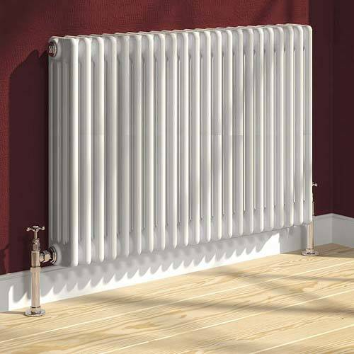 Additional image for Colona 4 Column Radiator (White). 600x785mm.