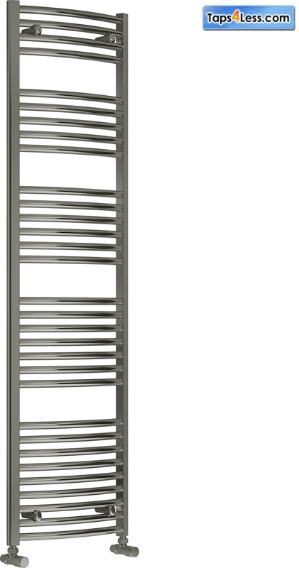 Additional image for Diva Curved Towel Radiator (Chrome). 1800x600mm.