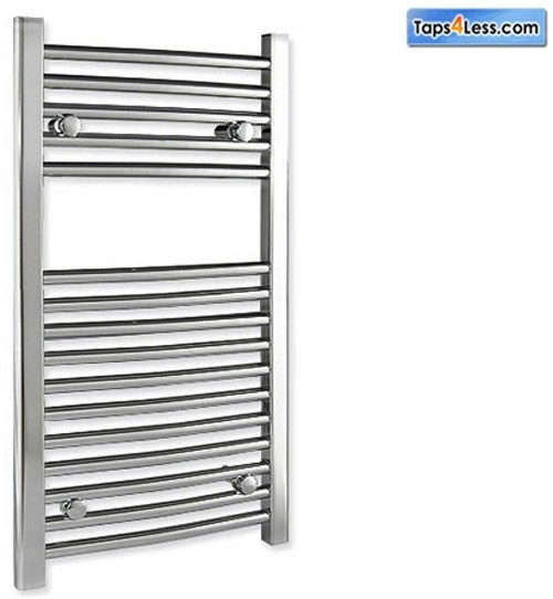 Additional image for Diva Flat Towel Radiator (Chrome). 800x600mm.