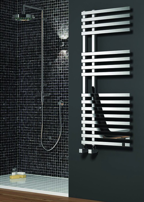 Additional image for Felino Towel Radiator (Chrome). 1200x500mm.