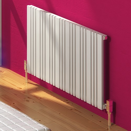 Additional image for Bonera Horizontal Radiator (White). 852x550mm.
