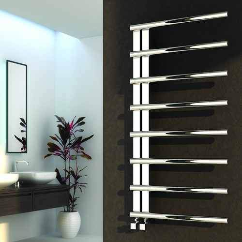 Additional image for Celico Towel Radiator (Stainless Steel). 1000x500mm.
