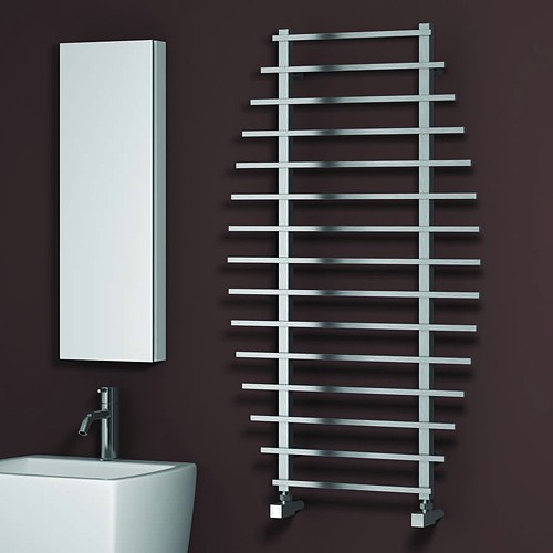 Additional image for Enna Towel Radiator (Polished Stainless Steel). 1200x700.